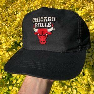 Vintage 80s 90s Chicago Bulls NBA snapback cap hat